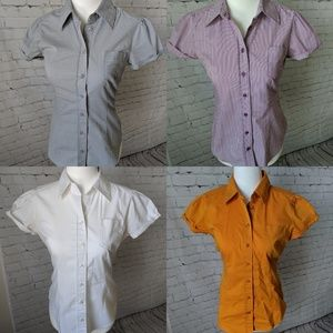 Lot of 4 NY&Co Button Down Short Sleeved Shirts